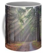 God Beams - Coniferous Forest In Fog Coffee Mug