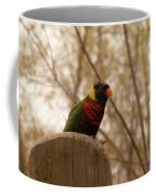 Green Naped Lorikeet Coffee Mug