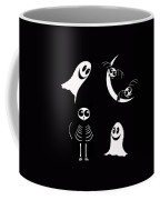 Halloween Bats Ghosts And Cat Coffee Mug