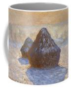 Haystacks, Snow Effect Coffee Mug