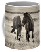 Horses Of The Fall  Bw Coffee Mug