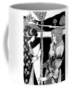 How Morgan Le Fay Gave A Shield To Sir Tristran Coffee Mug