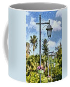 Lampost With Flowers In Nafplio Town Coffee Mug