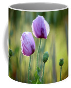 Lilac Poppy Flowers Coffee Mug