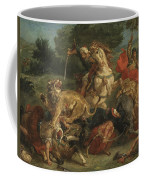 Lion Hunt Coffee Mug