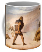 Lion In The Arena Coffee Mug