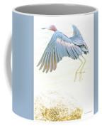 Little Blue Heron In Flight Coffee Mug