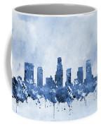 Los Angeles Skyline-blue Coffee Mug
