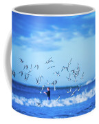 Morning Sunrise Over Ocean Waters Coffee Mug