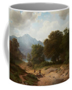 Mountainous Landscape With Shepherds Coffee Mug