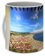 Nazare Portugal Skyline Coffee Mug