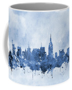 New York Skyline-blue Coffee Mug