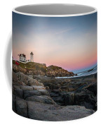 Ocean Lighthouse At Sunset Coffee Mug