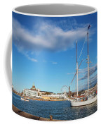 Old Sailing Boats In Helsinki City Harbor Port Finland Coffee Mug