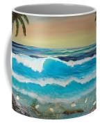 2 Palms Orange Sunset Coffee Mug