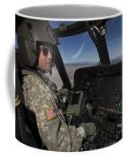 Pilot Operating The Cockpit Of A Uh-60 Coffee Mug