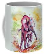 Playing Elephant Baby Coffee Mug