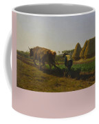 Cattle At Rest On A Hillside In The Alps Coffee Mug