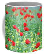 Poppy Flowers Meadow Spring Season Coffee Mug