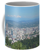Portland Skyline With Mount Hood Coffee Mug