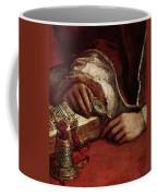 Raphael Pope Leo X With Cardinals Giulio De  Medici And Luigi De  Rossi  Coffee Mug