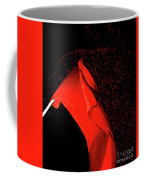Red Flag On Black Background Coffee Mug