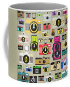 Retro Camera Pattern Coffee Mug by Setsiri Silapasuwanchai