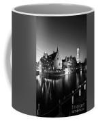 River Dijver And The Belfort At Night, Rozenhoedkaai, Bruges Coffee Mug