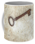 Rusty Key On Old Parchment Coffee Mug