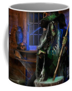 Scary Old Witch With A Cauldron Coffee Mug