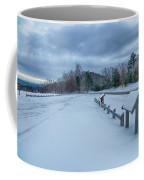 Scenic Views At Brown Mountain Overlook In North Carolina At Sun Coffee Mug