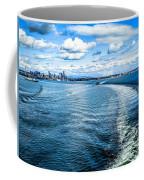 Seattle Washington Cityscape Skyline On Partly Cloudy Day Coffee Mug