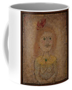 Small Portrait Of A Girl In Yellow Coffee Mug
