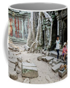 Souvenir Trinket Stall Vendor In Angkor Wat Famous Temple Cambod Coffee Mug