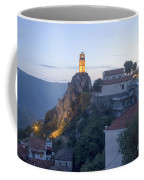 Spectacular Meteora Rock Formations Coffee Mug