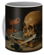 Still Life With A Skull And A Writing Quill Coffee Mug