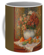 Still Life With Flowers And Prickly Pears Coffee Mug