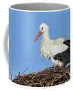 Stork On A Nest Coffee Mug by Nick Biemans