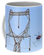 Stringing Power Cable By Helicopter Coffee Mug