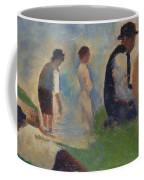 Study For Bathers At Asnieres Coffee Mug