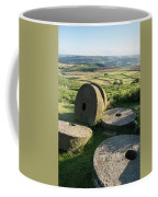 Summer Landscape Image Of Millstones On Top Of Stanage Edge In P Coffee Mug