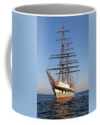 Tall Ship Anchored Off Penzance Coffee Mug