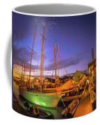 Tall Ships And Yahts Moored In Newport Harbor Coffee Mug