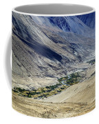 Tangsey Village Landscape Of Leh Ladakh Jammu And Kashmir India Coffee Mug
