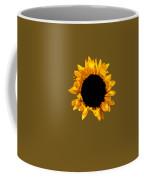 Sunflower Stretching On Brown Coffee Mug