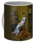 The Artist's Wife And His Setter Dog Coffee Mug