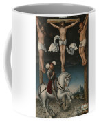 The Crucifixion With The Converted Centurion Coffee Mug