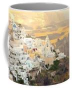 The Golden Hour In Fira Coffee Mug