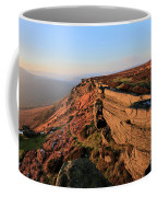 The Gritstone Rock Formations On Stanage Edge Coffee Mug