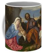 The Holy Family With A Shepherd Coffee Mug